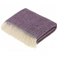 Cashmere Herringbone Reversible Blanket
